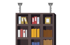 本棚突っ張り棒固定イメージ